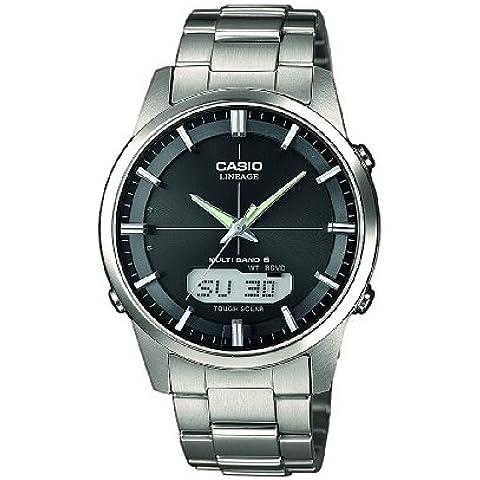 Casio  Radio Controlled LCW-M170TD-1AER - Reloj de cuarzo para hombre, con correa de titanio, color
