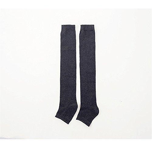 SLGJYY Frauen-halber Fuß-Yoga-Socken-dickerer Fersen-Druck Knie-hohe Anti-Friktions-Socken Für Weibliches Mädchen-Innenyoga-Übung -