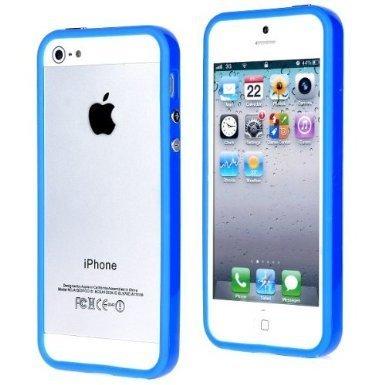 iProtect Protection Frame iPhone Custodia protettiva, cover di protezione Apple iPhone 5 5S celeste Blu