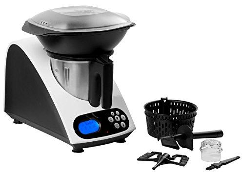 Image of MEDION MD 16361 Küchenmaschine mit Kochfunktion, 1000 Watt Leistung, 2 Liter Edelstahl Mixausatz, weiß