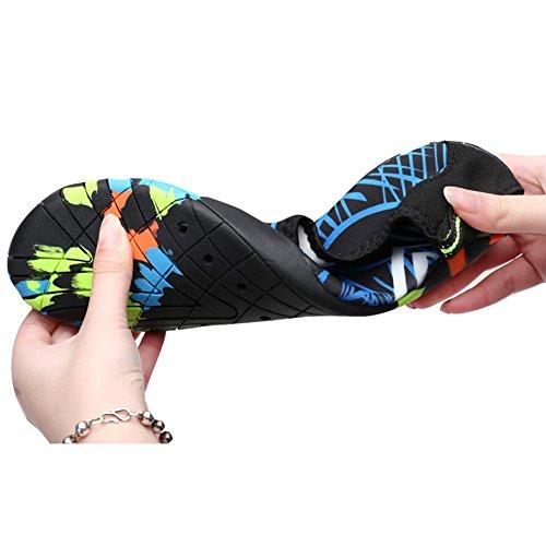 Highdas Badeschuhe Wasserschuhe Aquaschuhe Schnell Trocknend Slip On Breathable Strandschuhe Schwimmschuhe Barfuß Schuhe für Herren Damen Surf Yoga Jungen Mädchen 3#