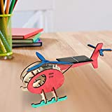 Artigianato in Legno Energia Solare Giocattolo Artigianato Assemblaggio di Modelli Fai da Te Costruzione di aeroplani Puzzle Kit Mini-Plane Regalo per Bambini Adulti