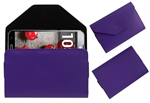 Acm Premium Pouch Case For Lg Optimus G Pro Flip Flap Cover Holder Purple  available at amazon for Rs.329