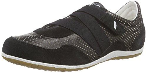 Geox Damen D Vega A Sneakers, Schwarz (BLACKC9999), 37 EU