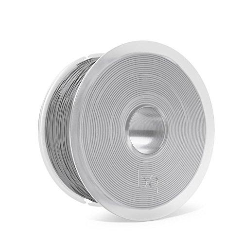 BQ Easy Go - Filamento PLA de 1.75 mm (100{59d5950751559dd951798cbd700d194773e8f3cd65ac48779da9a7bcf89632c0} PLA, resistente a la acetona, rápido endurecimiento) color gris ceniza