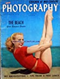POPULAR PHOTOGRAPHY du 01/09/1950 - THE BEACH / YOUR SUMMER STUDIO - TRY BACKLIGHTING - TIPS FROM A FREE LANCE - PETER GOWLAND