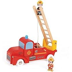 Janod - Story, Camión de bomberos de madera (J08574)