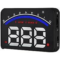 VORCOOL Head Up Display Auto HUD Speedmeter M6 Überdrehzahl Erinnerung Wassertemperatur Niederspannung Warning Windschutzscheibe Projekt (Schwarz)