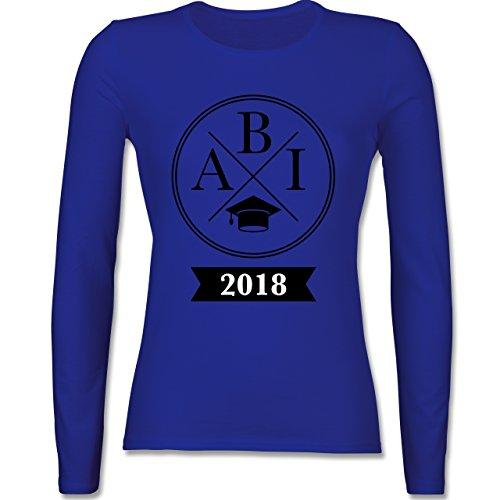 Shirtracer Abi & Abschluss - Abi 2018 Hipster X - Damen Langarmshirt Royalblau