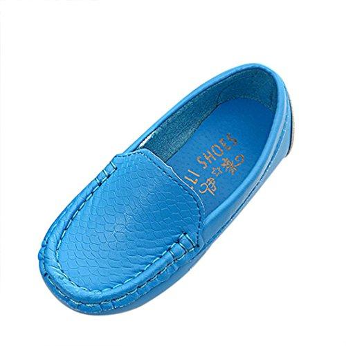 Tefamote Zapatos Botas Zapatillas de Deporte Suela Casual Cuna Ocio Antideslizante para Bebé Recién Nacido Niño Niña (30, Azul)