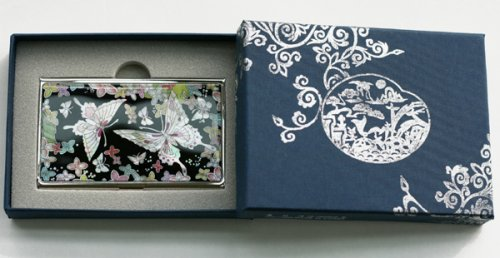 Business card holder credit card case handmade mother of pearl business card holder credit card case handmade mother of pearl gift butterflies by silver j colourmoves