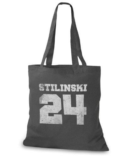 StyloBags Jutebeutel/Tasche Stilinski 24 vintage Style, Farbe:darkgrey -
