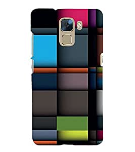 Vizagbeats Colored checks pattern Back Case Cover for Huawei Honor7