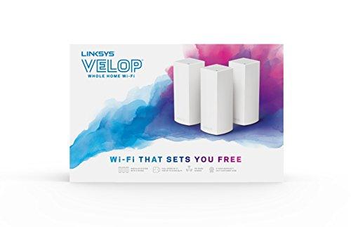 Linksys Velop Sistema Wi-Fi Tri Band, AC6600, Confezione da 3, Bianco