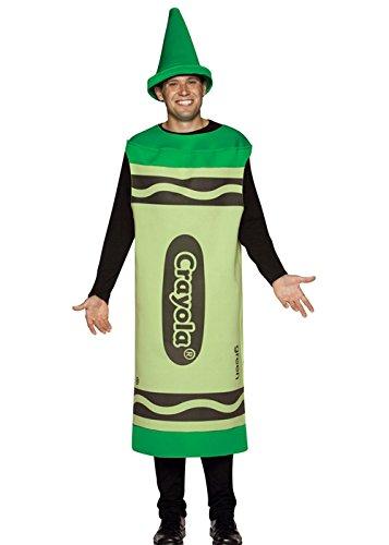 Struts Fancy Dress Erwachsene grün Crayola Crayon