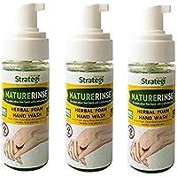 Herbal Strategi – Nature Rise Hand Sanitizer   100% Herbal   Foam Hand Wash  Made with Lemongrass, Neem Oil, Lemon Oil…