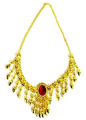 erdbeerclown - Kette Kostüm Schmuck orientalische Schatz Piraten Orient Cleopatra goldglänzend, Gold