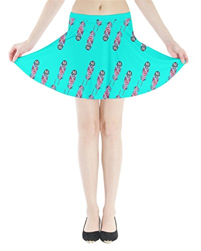 CowCow - Jupe - Femme Blue Leafy Turquoise Tribal