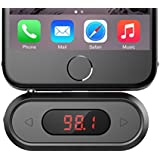 FM Transmitter, Doosl® 3.5mm FM Transmitter Radio Adapter Hands-free Calling Wireless Radio Car Kit, Compatible with iPhone, iPad, iPod, Samsung Galaxy, HTC, MP3, MP4 and Most Devices with 3.5mm Audio Jack