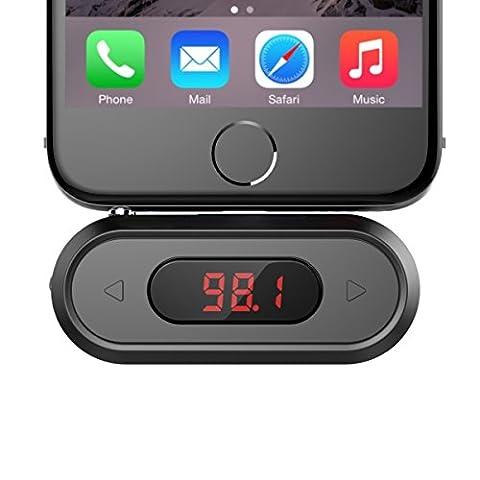 Doosl® Kit adaptateur radio transmetteur FM mains libres sans fil pour voiture 3,5mm compatible avec IPhone, IPad, Ipod, Samsung Galaxy, HTC, MP3, MP4et la plupart des appareils avec prise audio jack 3,5mm