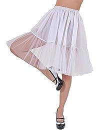 Petticoat Tüll Rock für Damen zum Fifties Retro Kostüm