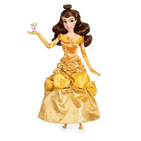 """Tienda oficial de Disney Beauty & The Beast Belle muñeca clásica con chip de 12 """"figura"""
