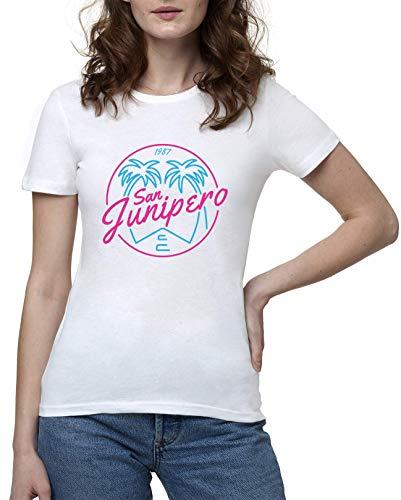 Black Mirror San Junipero 1987 Camiseta Mujer Blanco | Women's White T-Shirt Tshirt