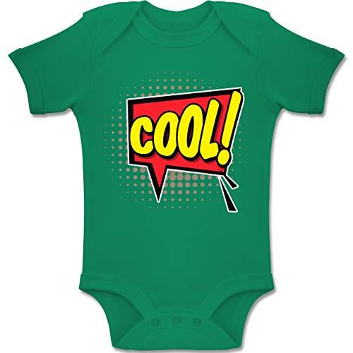 Pop Mädchen Art Comic Kostüm - Shirtracer Karneval und Fasching Baby - Popart Karneval Kostüm COOL! - 12-18 Monate - Grün - BZ10 - Baby Body Kurzarm Jungen Mädchen