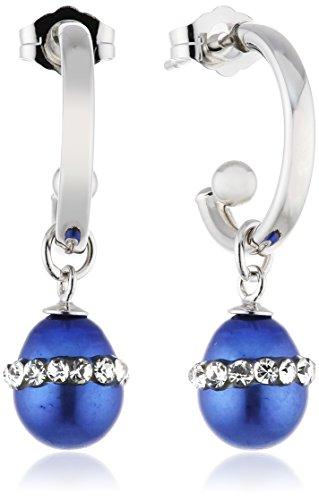 Sakura Pearl Damen-Hängeohrringe 925_Sterling_Silber Glas AM286B