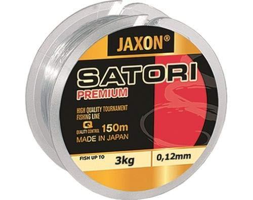 Jaxon Angelschnur Satori Premium Spule 150M 0,10mm-0,35mm Monofile Schnur (0,12mm / 3kg)