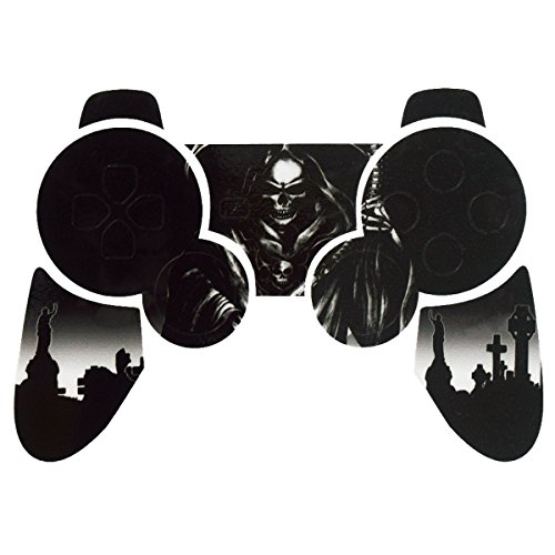 PlayStation 3 PS3 Controller Sticker - Aufkleber Schutzfolie Skin für Sony Playstation DualShock 3 Wireless Controller Reaper Black
