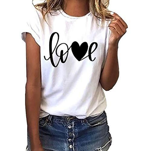 Oyedens Love Drucken The Perfect Tee T Shirt Mädchen Damen White Schwarz Rosa Blau Sport T-Shirt Running Fitness Shirts Sportbekleidung Kurzarm ()