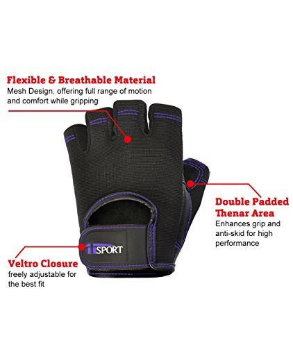 iisport-Weight-Lifting-Gloves-for-Women-and-Men-Leather-Grip-WOD-Workout-Gloves-for-Pro-or-Beginners-Great-Weightlifting-Gym-Gloves-for-Powerlifting-CrossFit-Kettlebell-Purple-M