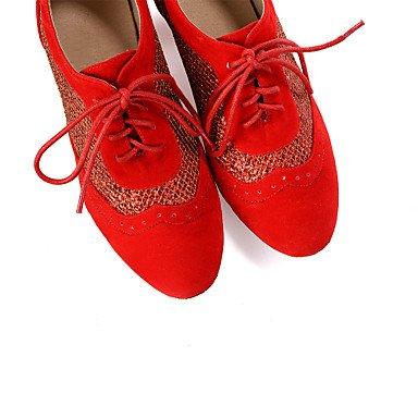 Chaussures De Danse-personnalisable-womens-belly Dance / Danse Latino-américaine / Jazz / Modern Dance Sneakers / Moderne / Samba Red
