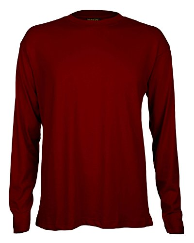 mens-long-sleeve-premium-t-shirts-by-mig-sizes-s-to-4xl-work-casual-sports-2xl-xxl-maroon