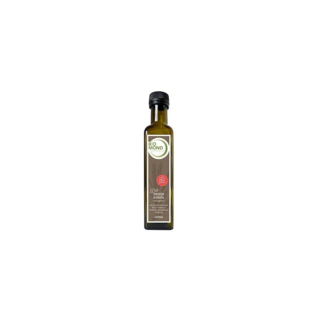 Bio Weizenkeiml Biomond 250 Ml Gourmetl Hautl Kalt Gepresst Nativ Vegan Rohkostqualitt