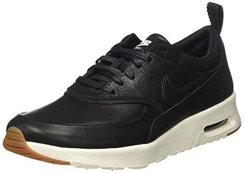 Nike Damen Wmns Air Max Thea Prm Sneakers, Schwarz (Black/Black/Sail/Gum Med Brown), 38 EU (Nike Air Max Thea Black)