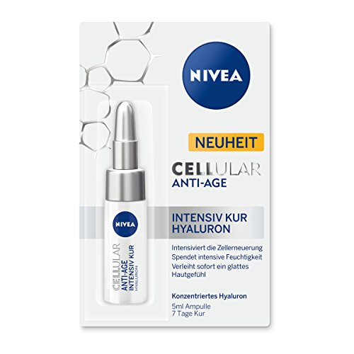 NIVEA Anti-Falten 7 Tage Intensiv Kur mit Hyaluron, 5 ml Ampulle , CELLular Anti-Age