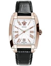 Versace WLQ80D498 S009 - Reloj analógico de cuarzo para hombre con correa de piel, color