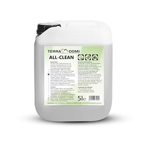 5 L All-Clean -Starker Außen Reiniger für Terrassen, Wege, Häuser, Hallen, Tore und Maschinen -