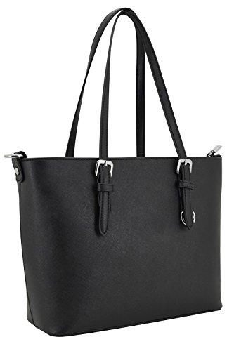 Vanessa & Melissa (Farbauswahl) Damen Handtasche TÜV GEPRÜFTES PU-Leder Schultertasche Tasche