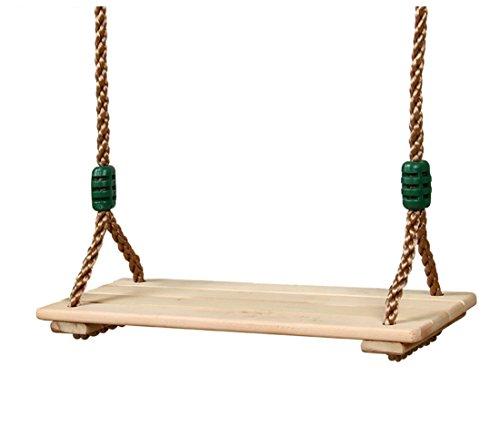 Sjho altalena per bambini in legno giardinaggio all'aperto - 48,42~83,85 pollici regolabile - adatto per bambini adulti,large