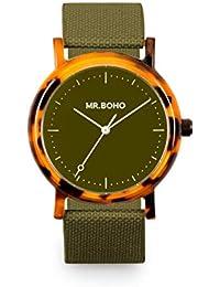 277fee189b35 Reloj Mr.BOHO Mujer 36mm en Color Verde Correa Poliester. 00728660
