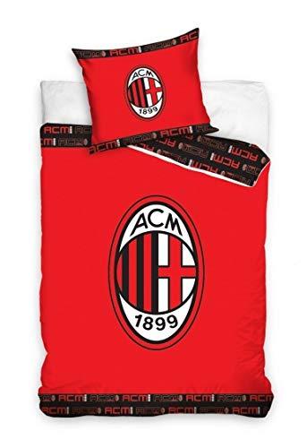 AC Milan ACM 1899 ORIGINAL Bettwäsche 160x200cm - 100{d2555d3ade4b402180dbac6353662764a25bc4f5cb75ef7f34ea70937d2d4961} Baumwolle