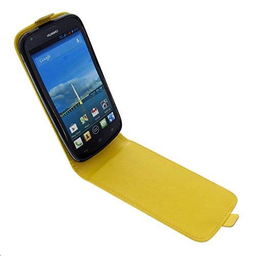 foto-kontor Tasche für Huawei Ascend Y600 Smartphone Flipstyle Schutz Hülle gelb