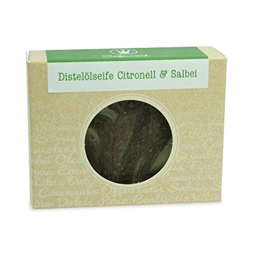 Seifenreich Distelöl Seife Citronell und Salbei, 1er Pack (1 x 100 g) -