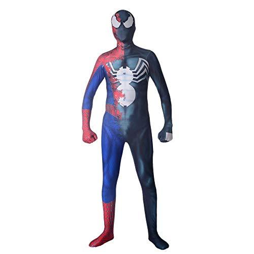 WEDSGTV Spiderman Kostüm Erwachsene Kinder Spandex Verkleidung Halloween Spider Man Kind Junge Performance Show Game Cosplay Anzug Erwachsene,Child-L (Spiderman Kostüm Vergleich)