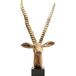 Kare–Cabeza Decorativa antílope, Madera, marrón, 43x 40x 78cm
