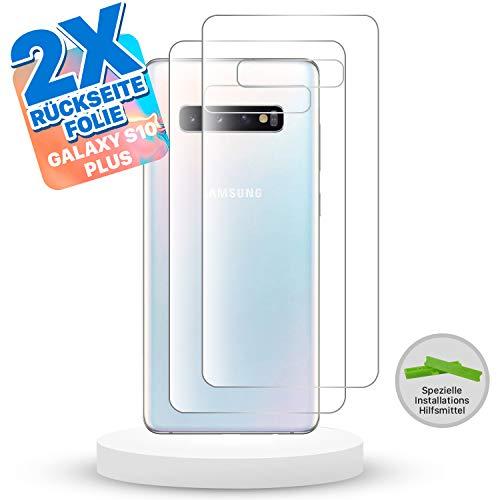 Snatchit Rückseite Folie für Samsung Galaxy S10 Plus   2 er Set Schutzfolie Back   Einfache Installation mit Tool   Ultra dünne Folie   Screen Protector S10+