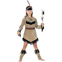 erdbeerloft–Niña Carnaval indios indios niña Pocahontas Disfraz, todas las piezas visibles, marrón negro, varios tamaños